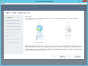 VCSA Installer UI