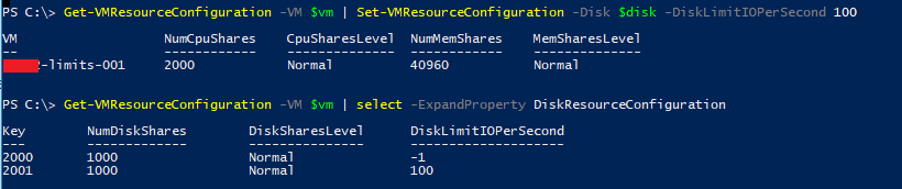 Powershell function disk limits
