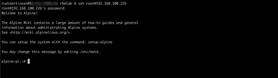SSH log in with root