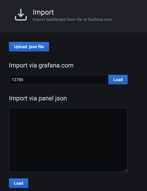Add ID of grafana.com dashboard