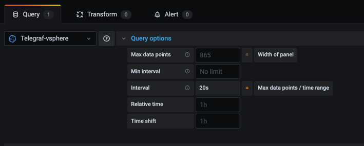 Query options