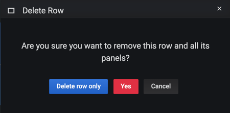 Row delete options