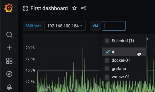 VM variable single host