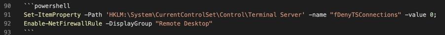 Powershell code block in Markdown
