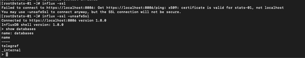 Testing CLI with https