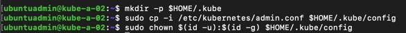 Kubectl config on new master