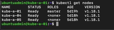 Kubernetes node status