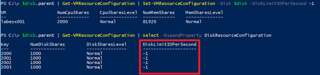 Setting limits PowerCLI
