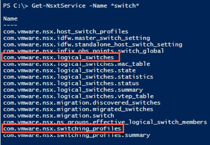 Switch classes available in PowerCLI