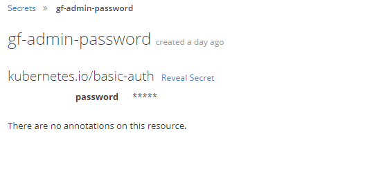 Secrets used for passwords