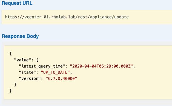 API result