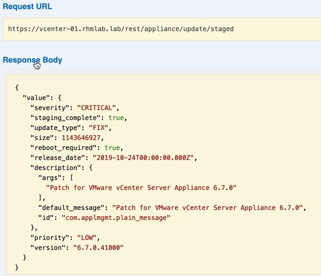 Staged installs through API